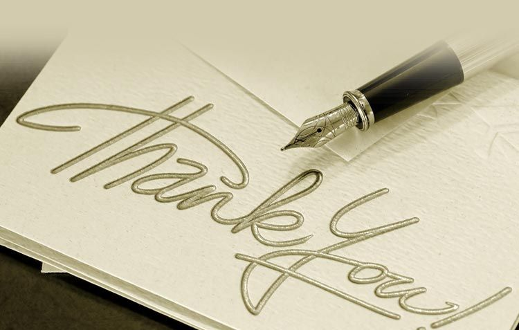 Thank You email stationery (stationary): Pen & Thank You Note