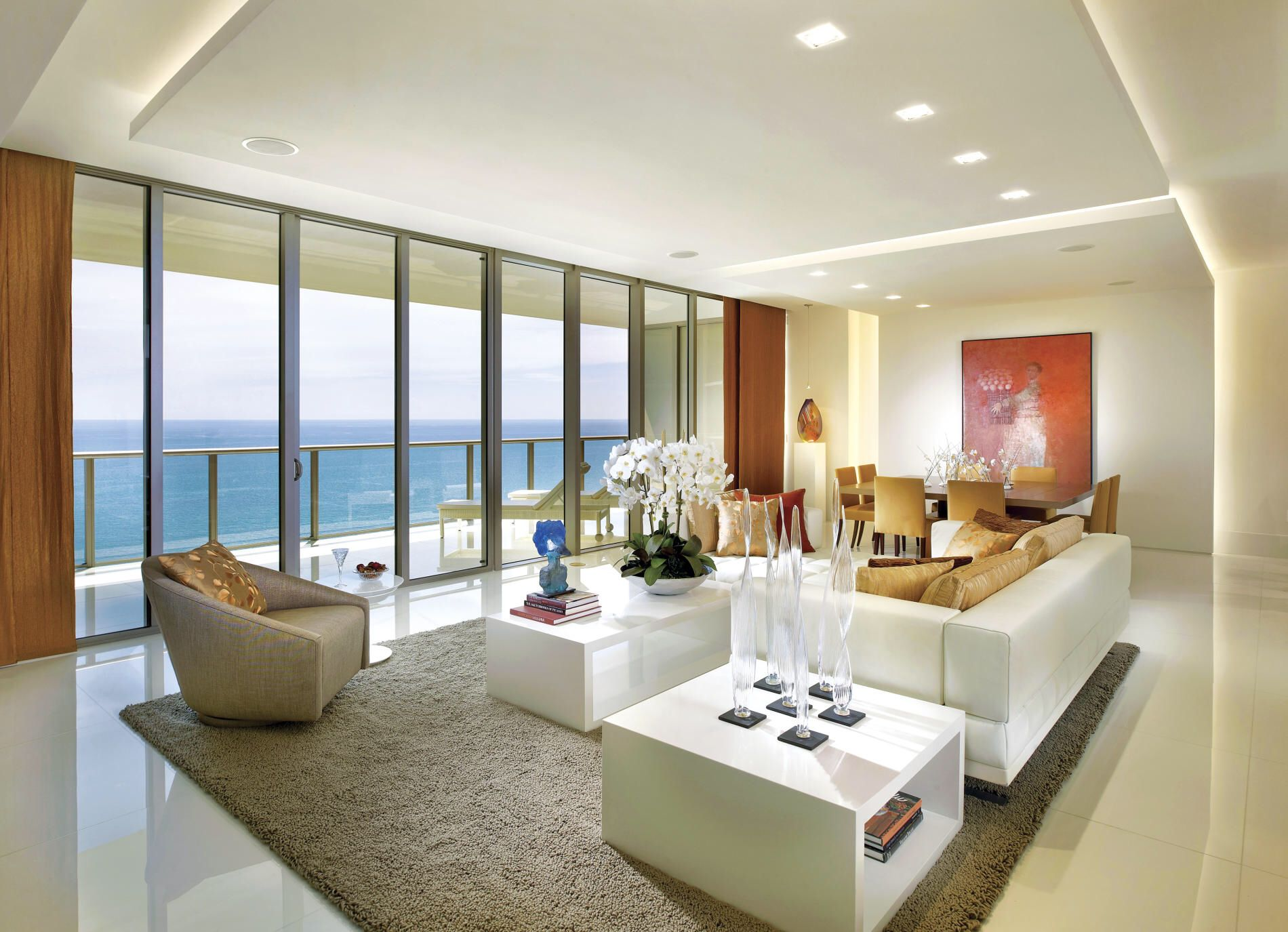 Modern Miami Condo Contemporary Interior Design Living Room