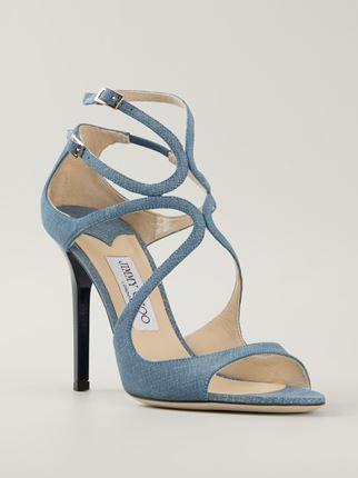 Jimmy Choo 'lang' Sandals - Russo Capri - Farfetch.com