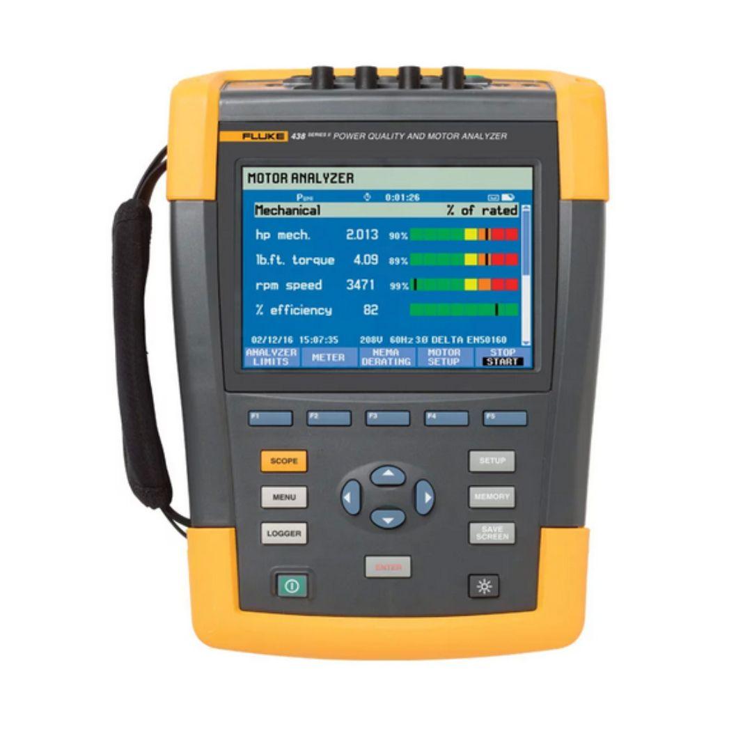 Fluke 438 Ii Power Quality Analyzer Motor Analyzer Power Graphing Calculator Spectrum Analyzer