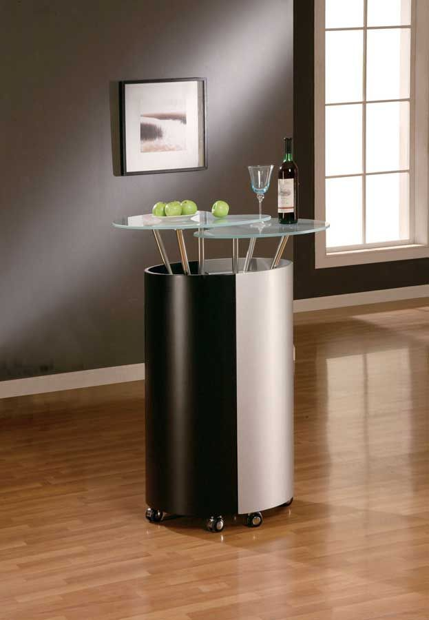 777 Bar   Black/Silver   Global Furniture