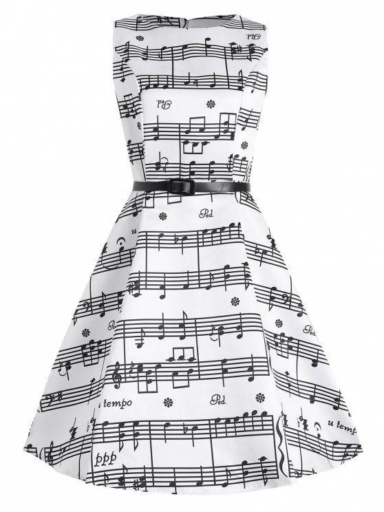 Plus Size Music Pattern 1950s Dress Stuff Pinterest 1950s
