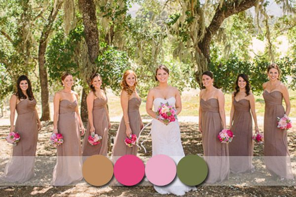 Rustic Wedding Dresses with Color