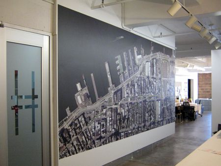 Friends Of The High Line S Office Recently Got A New Addition 9 Foot Aerial Wall Map In Our Reception Area Shows T