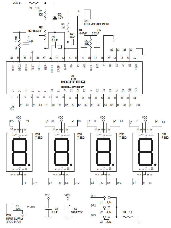 digital panel meter voltmeter electronics lab electronic rh pinterest com