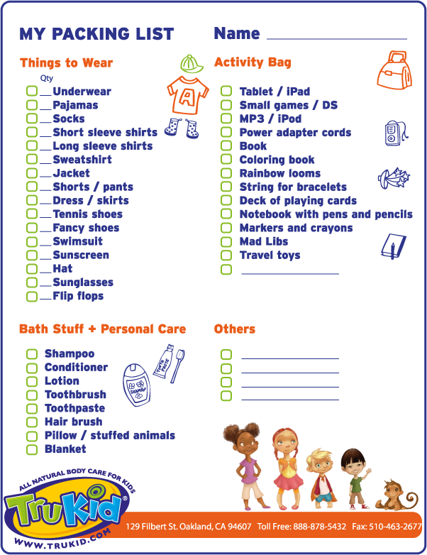 Checklist For International Travel With Children