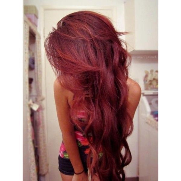 cute hair colors found on Polyvore