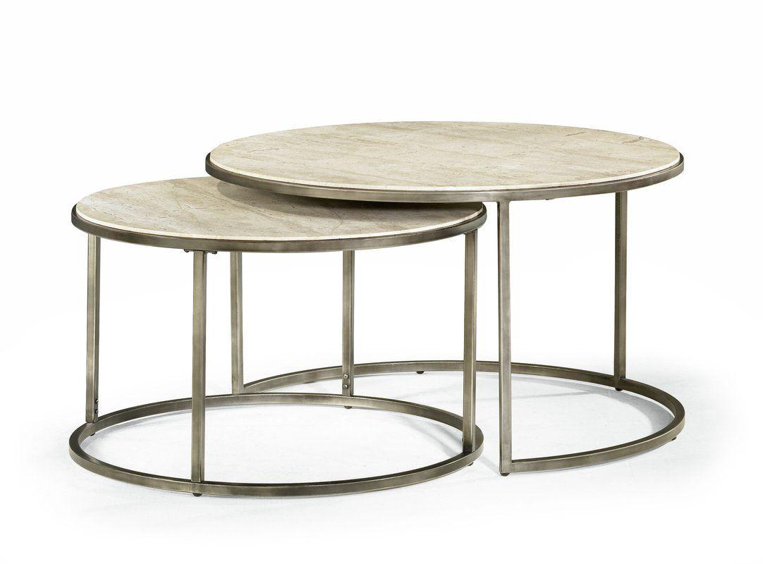 Masuda 2 Piece Coffee Table Set Round Coffee Table Contemporary