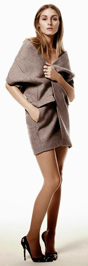 Taupe Wool Oversize Taylor Vest by Collage Vintage