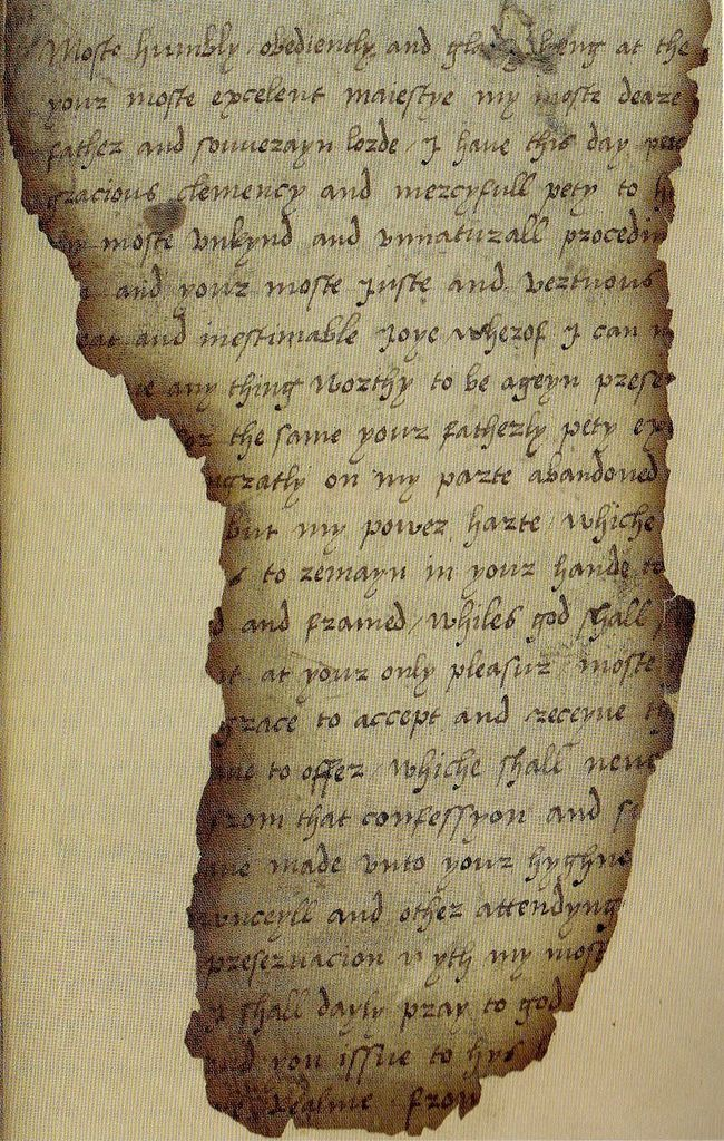 Mary Tudor's submission to her father