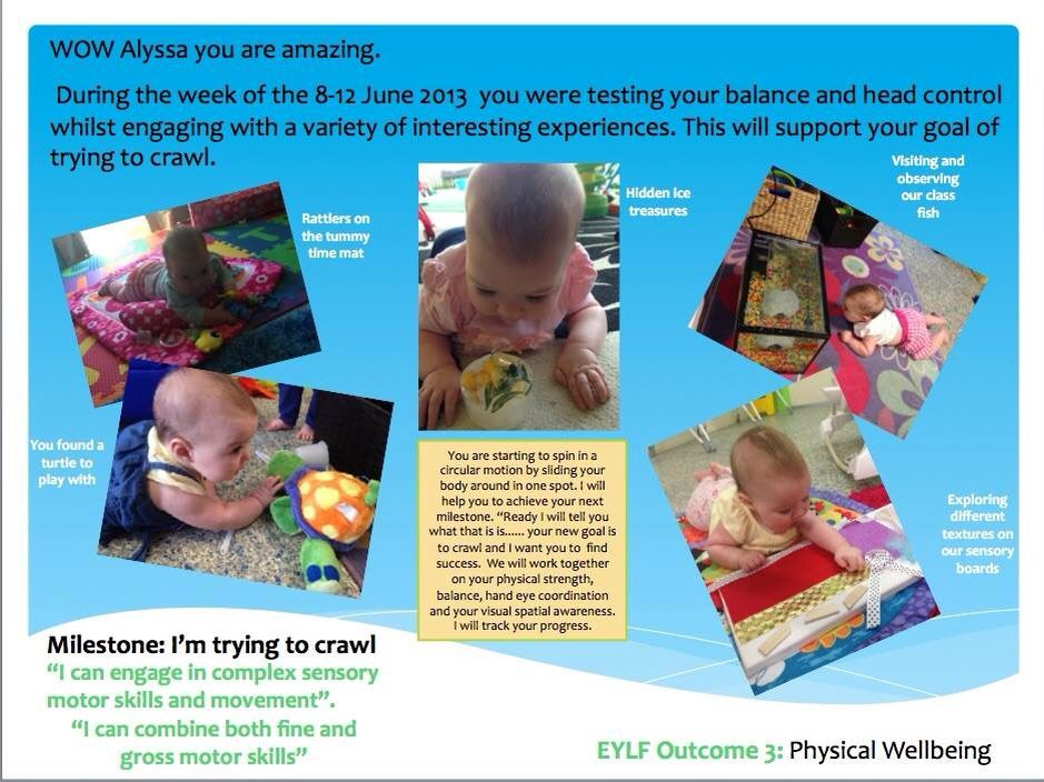 Infant Movement Observation Learning Stories Examples Learning Stories Early Childhood Learning