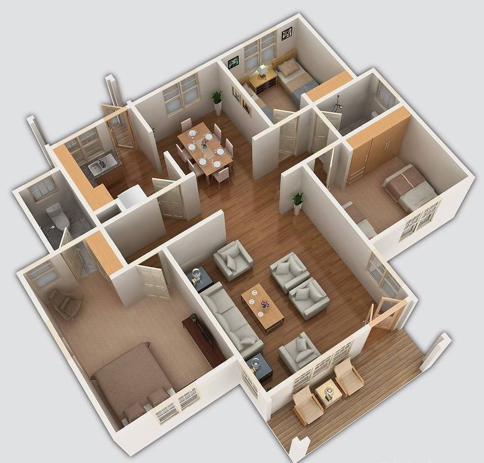 Three Bedroom Bungalow House Design In Kenya 3d Muthurwa Com Small House Design Philippines House Designs In Kenya Small House Design Plans