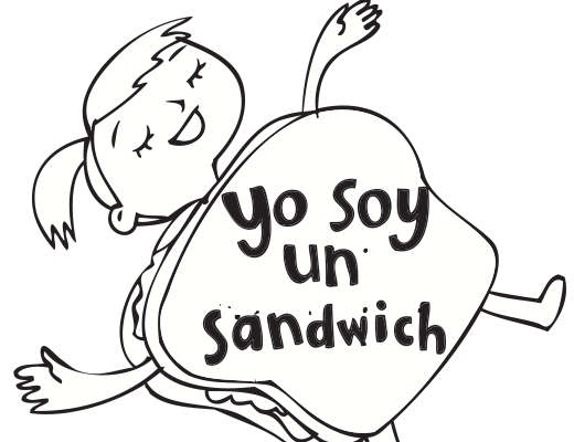 Yo soy un sandwich is a free printable book made by