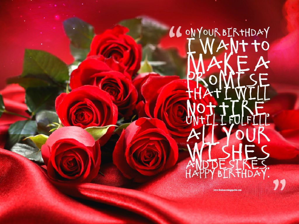 Beautiful Red Happy Birthday Rose Wishes Roses Flower Images