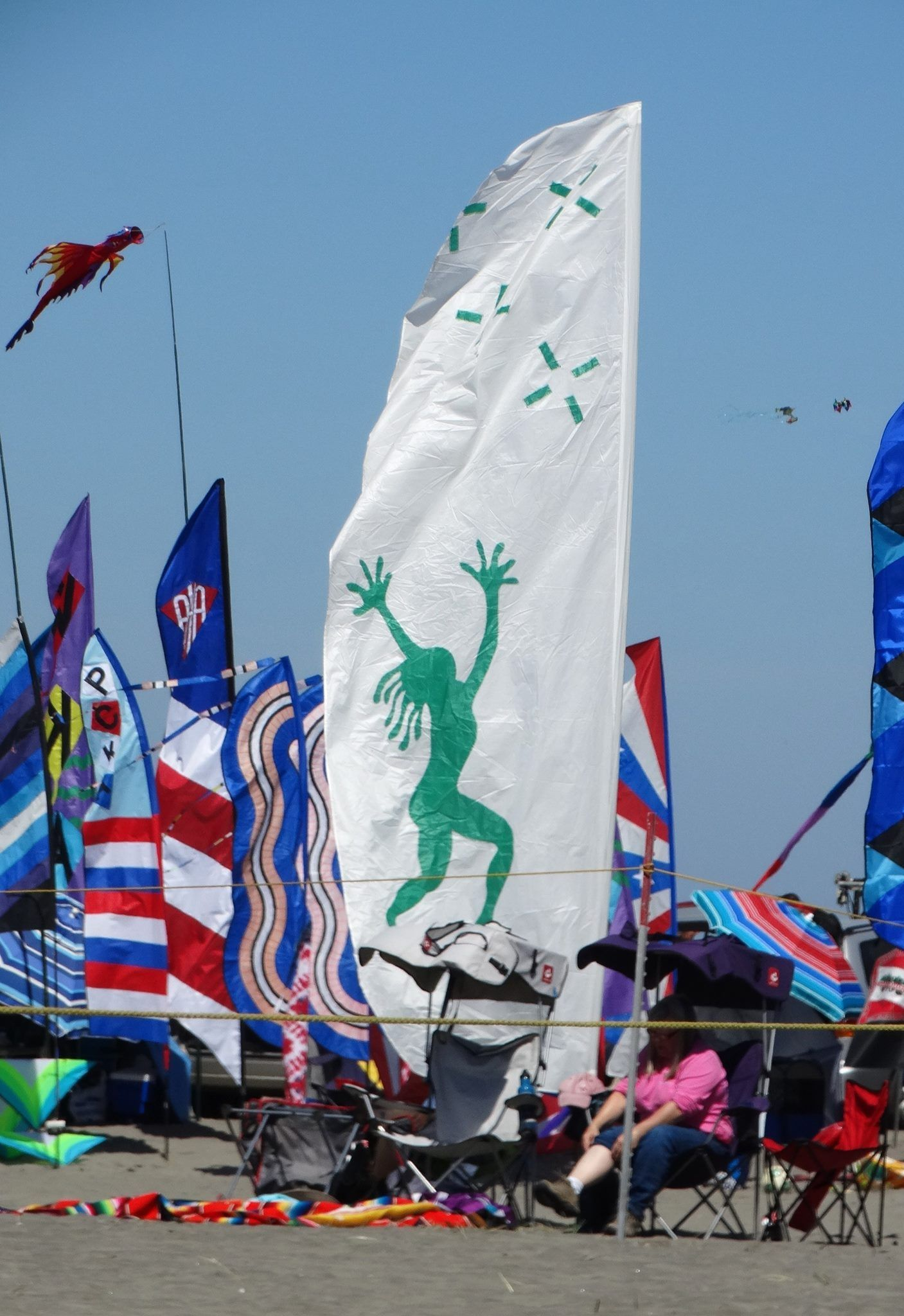 Banners galore at WSIKF 2016 Long Beach WA kitefestival