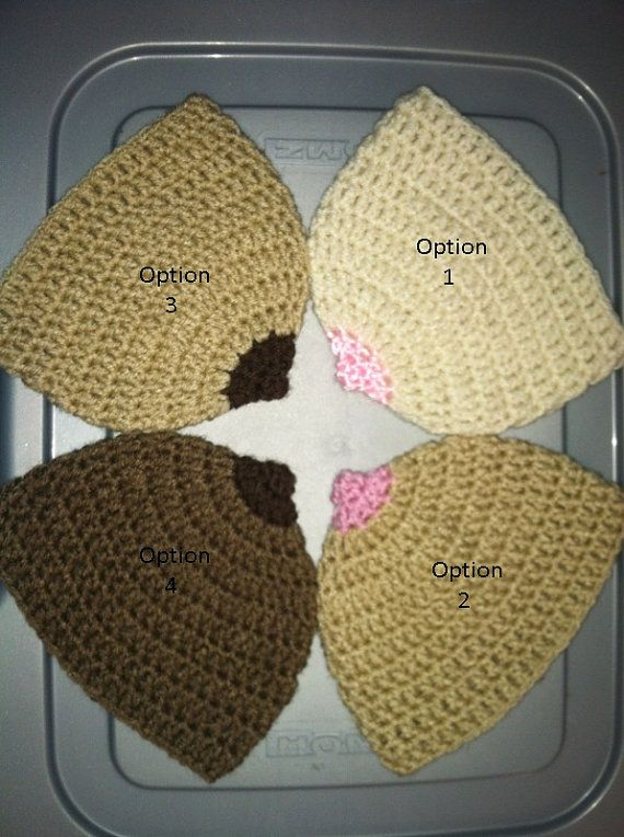 Handmade Crochet Boob Breast Nipple Breastfeeding Newborn Beanie