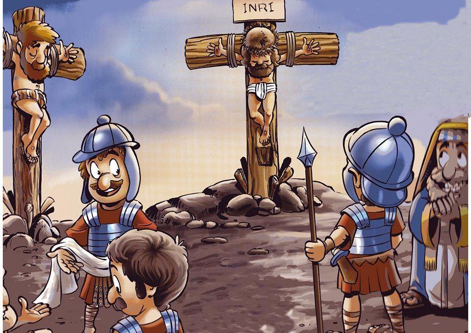 crucificcion de jesus para ninos