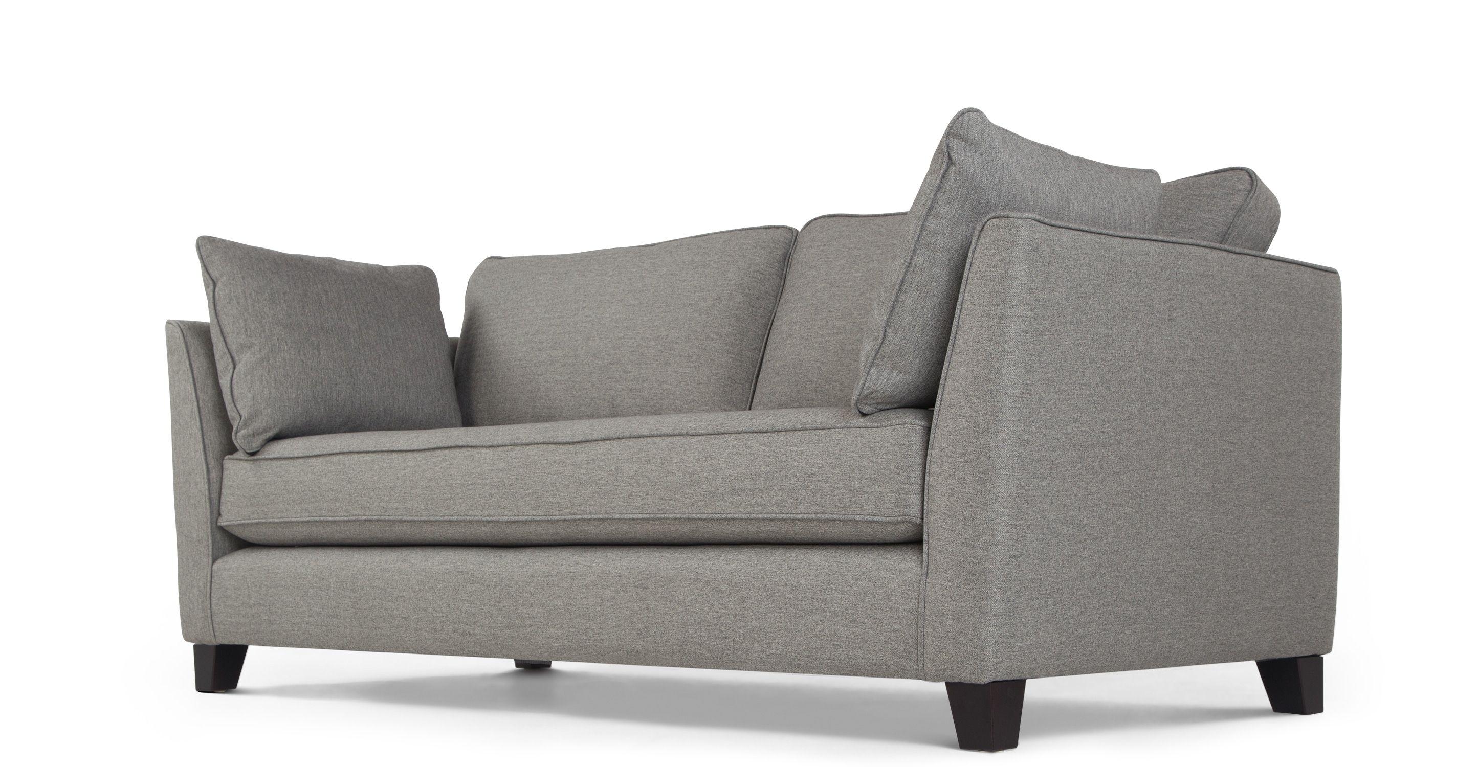 Mendini 2 Sitzer Sofa Anthrazit