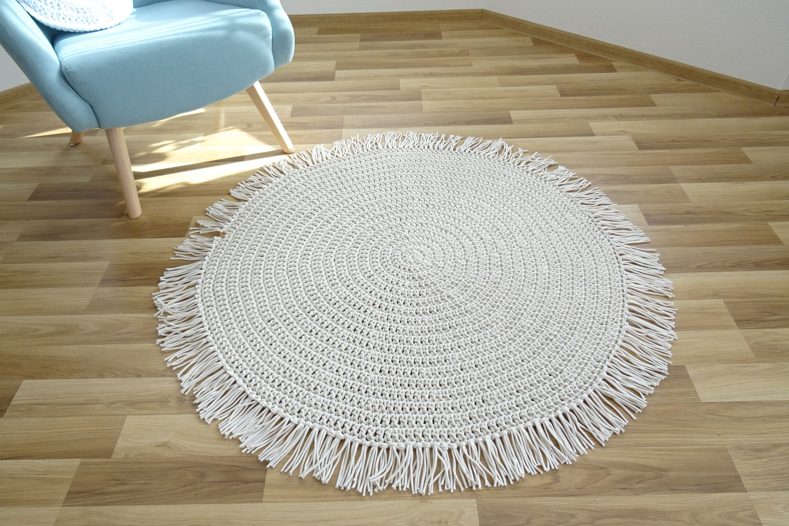 boho chic area rug crochet round rug boho fringe rug in 2020 chic area rug fringe rugs on boho chic kitchen rugs id=89527