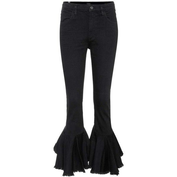 Cheapest Drew High-rise Fray Ruffled Flare Cropped Jeans Denim Citizens Of Humanity Discount Comfortable Eastbay Cheap Online Clearance Online Outlet View QDgUETE