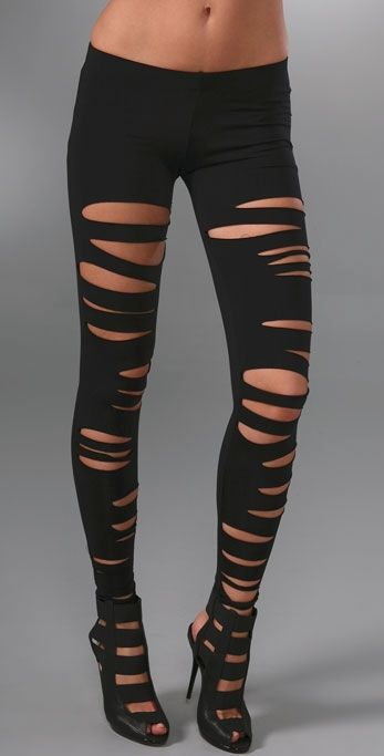 skilful manufacture unbeatable price fashionable and attractive package shredded leggings   My Style in 2019   Ripped leggings ...