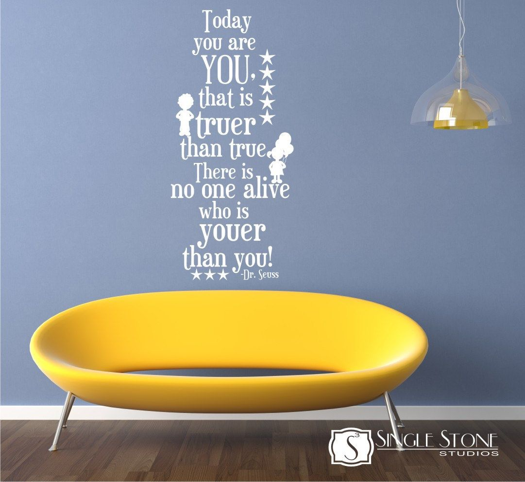 Wall Decal Quote Today You Are You - Vinyl Wall Art | Vinyl wall art ...