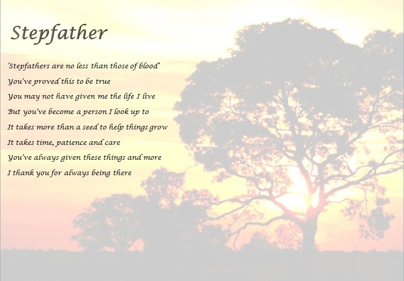Father Day Poems For Stepdads - Google Search