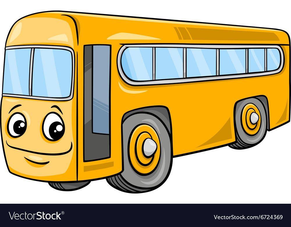 Bus Character Cartoon Vector Image On Cute Elephant Cartoon