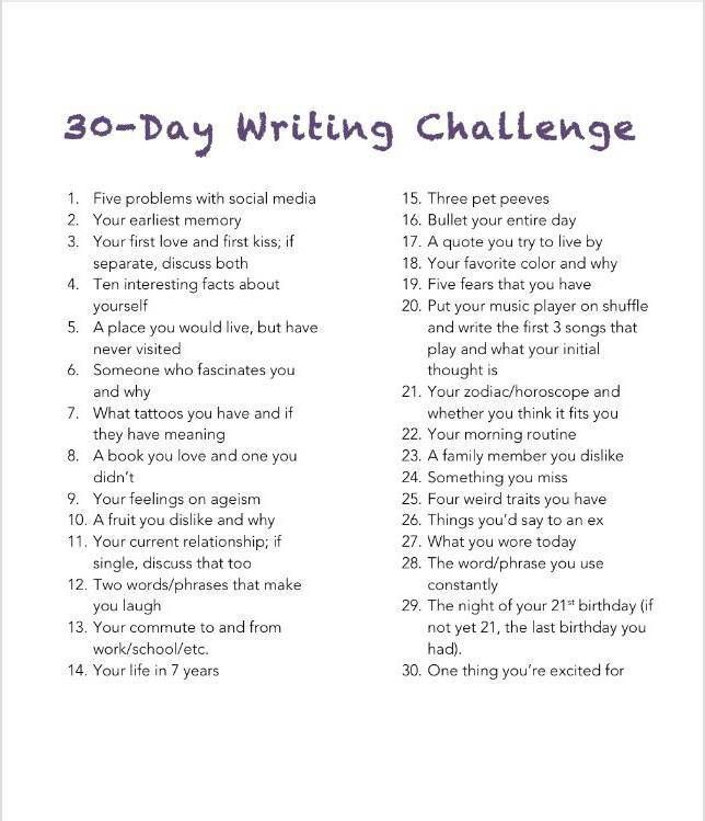day writing challenge day  your morning routine