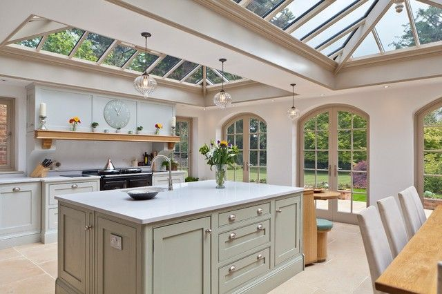 50+ Wonderful Traditional Conservatory Kitchen Designs - The Urban Interior #traditionalkitchen