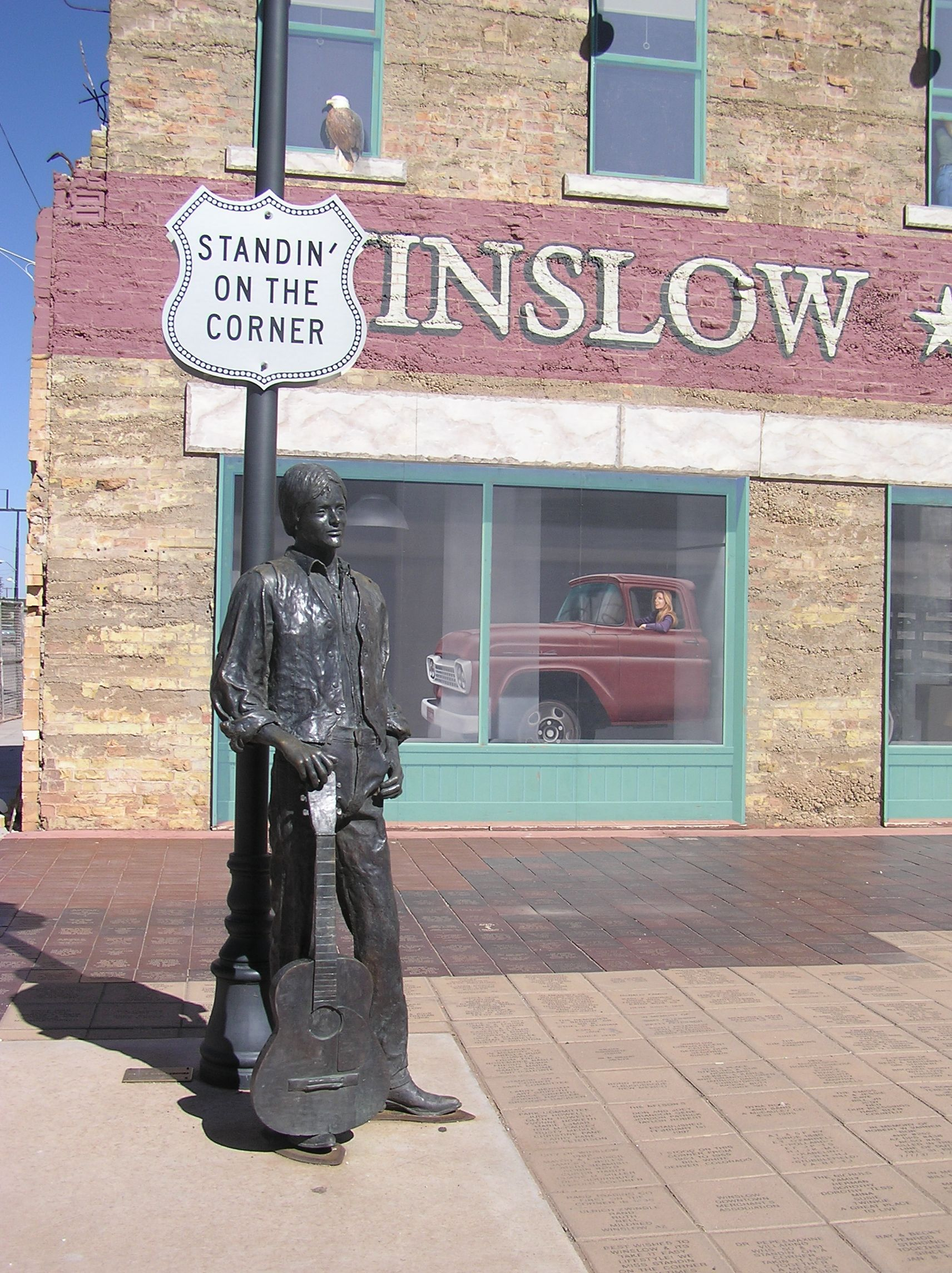 i want to stand on the corner in winslow arizona just like the eagle 39 s song take it easy. Black Bedroom Furniture Sets. Home Design Ideas