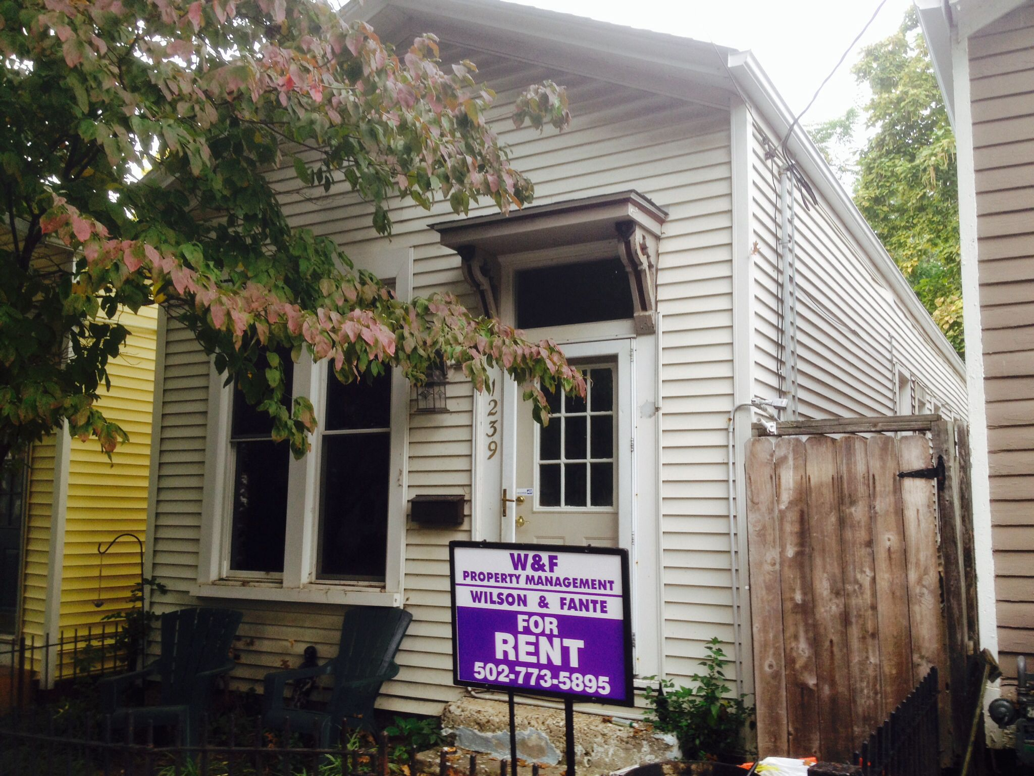 Wilson & Fante Property MGMT Just off Baxter with a