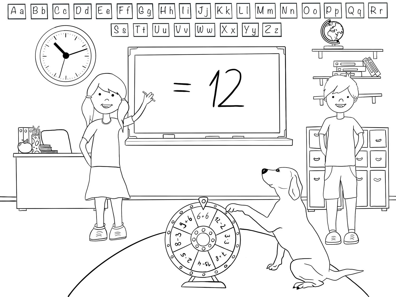 Ausmalbild Unterrichtsmaterial Im Fach Kunst Ausmalen Ausmalbild Schulhund