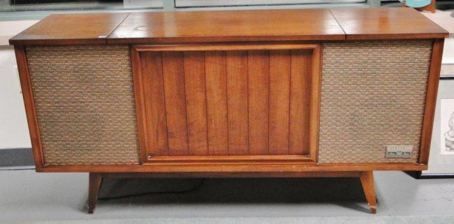 1960s Zenith console stereo with walnut case, modified : Lot 41 ...