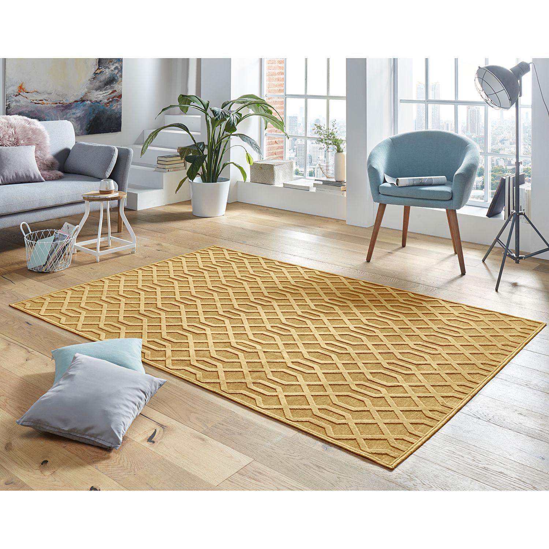 Kurzflorteppich Caine Teppich Gelb Teppich Vintage Teppiche
