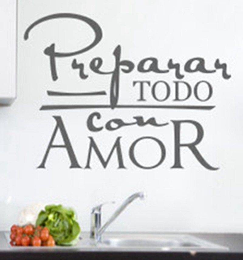 Spanish Wall Art Quote Stickers Espanol Kitchen Laundry Room Laundry