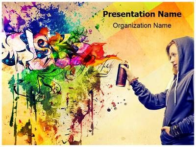 graffiti powerpoint template is one of the best powerpoint, Modern powerpoint