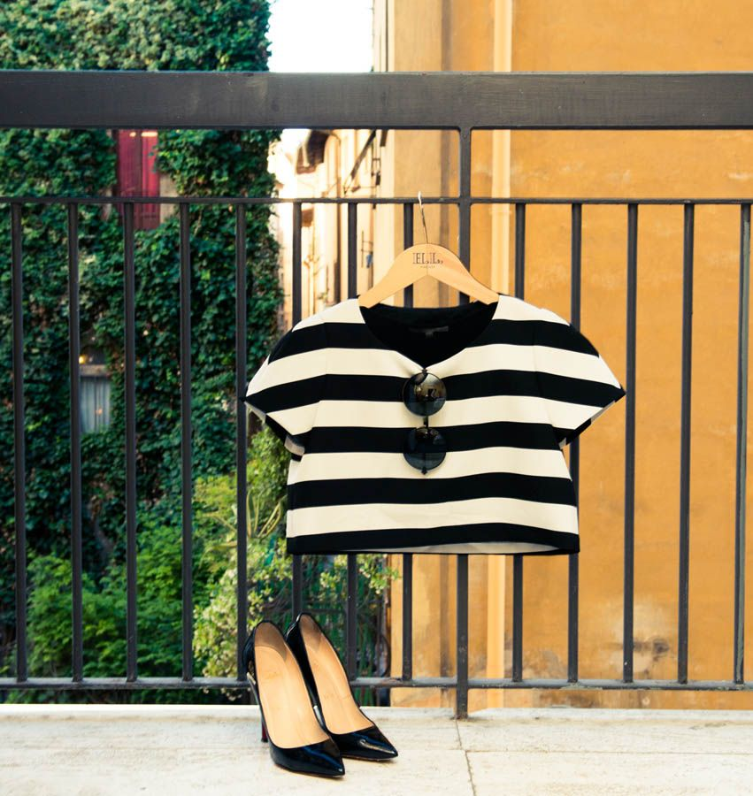Black & white with a side of Louboutin. www.thecoveteur.com/nicole_warne
