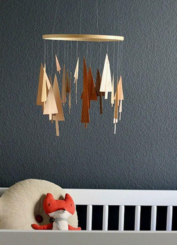 mobile en bois crafts pinterest mobile bois mobile. Black Bedroom Furniture Sets. Home Design Ideas