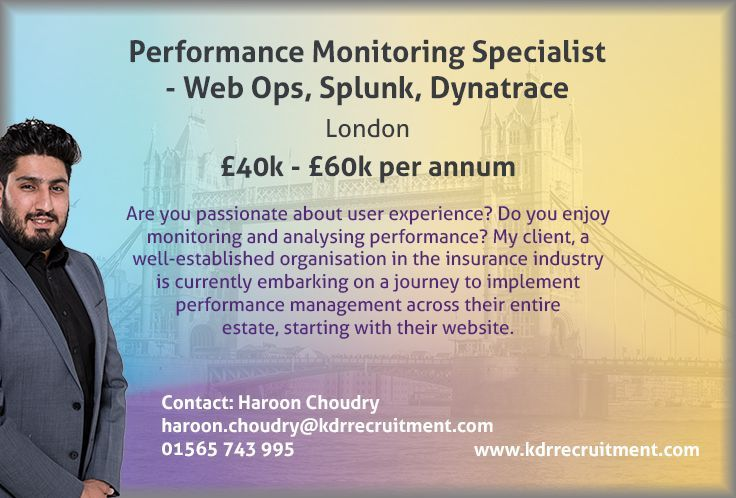 **NEW JOB** Performance Monitoring Specialist needed in