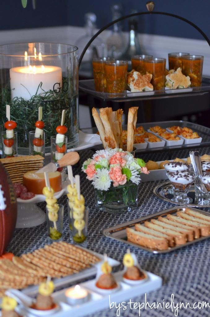 Game Day Party Table Pasta Bar Baby Shower Party Food Food Table