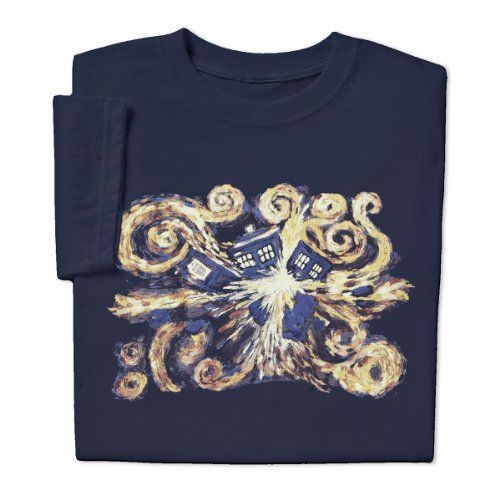 Give your special lady this Doctor Who Van Gogh Ladies T-shirt! Perfect addition to her wardrobe! By ComputerGear.com
