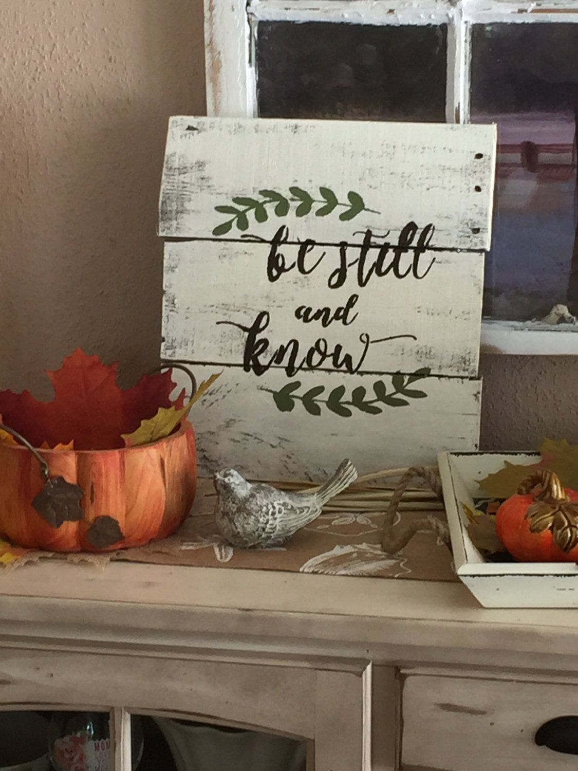 Be Still and Know pallet wood  sign. byhttps://www.etsy.com/shop/LindasVintageSigns LindasVintageSigns on Etsy