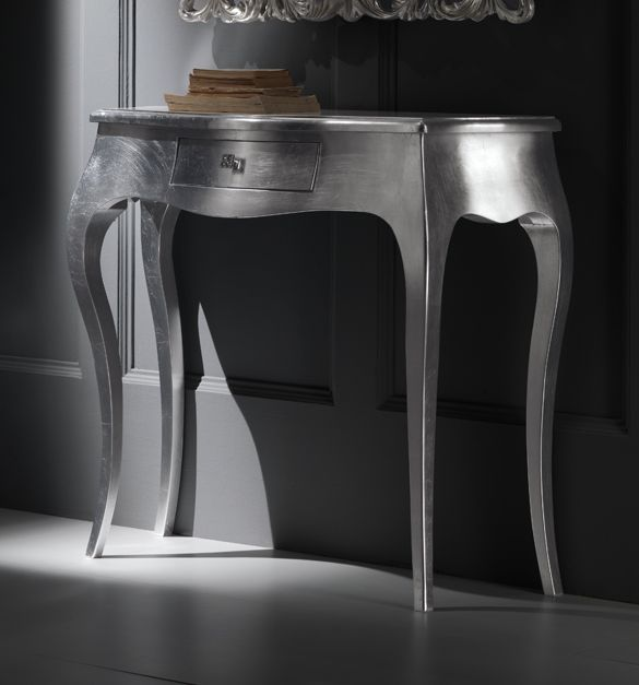 silver hall table. The Diva Collection Silver Console Shown Here With Rococco Mirror. A Solid Wood Beech Frame And Legs, In Le\u2026 Hall Table