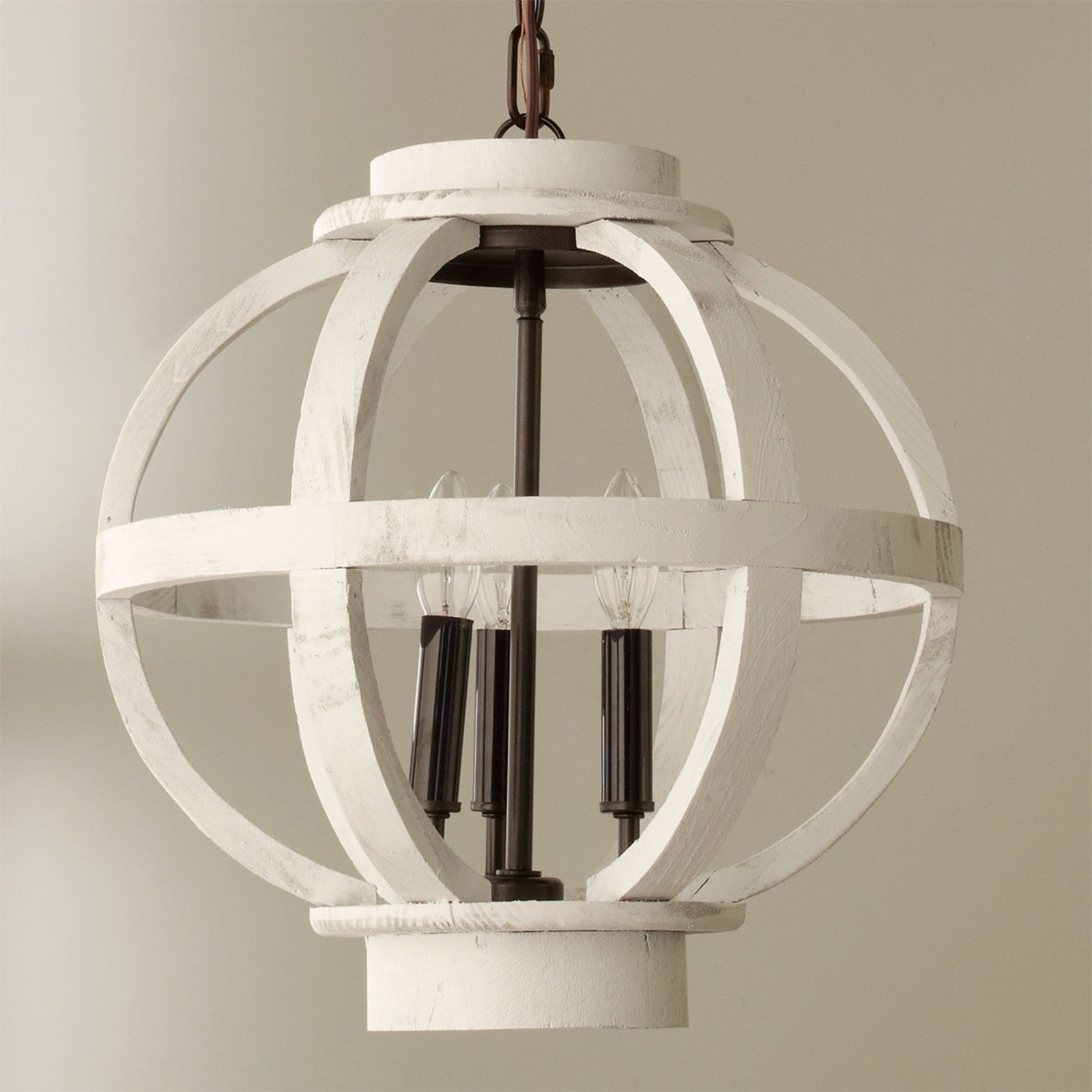 Mini Wood Globe Lantern Farmhouse pendant lighting