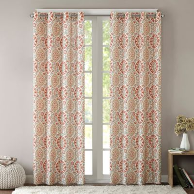 intelligent design seville 63 inch grommet top window curtain panel rh pinterest com