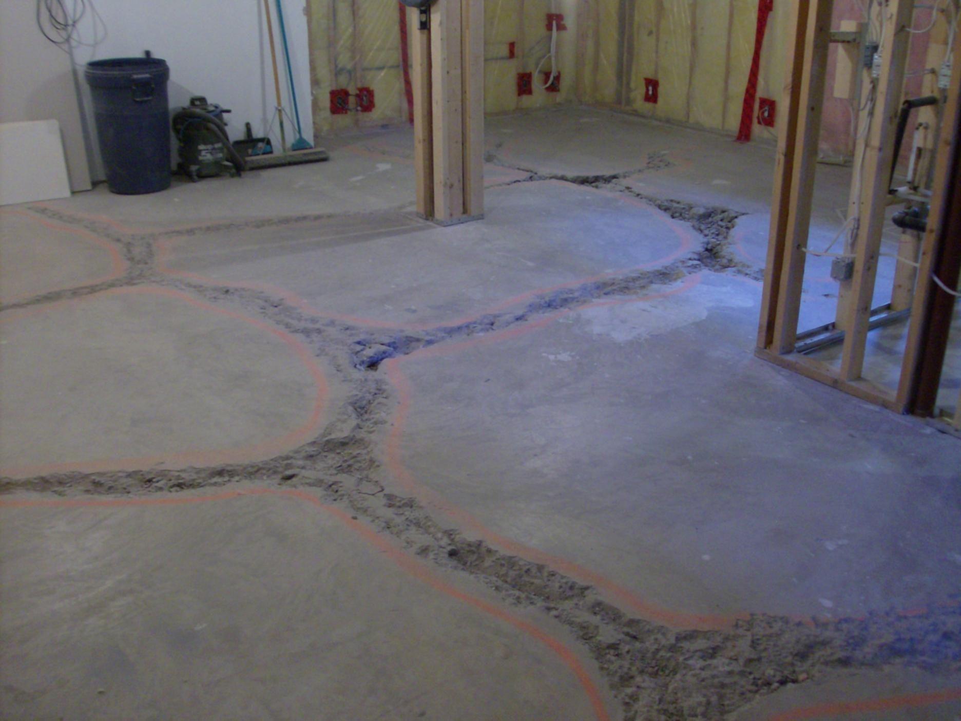 Method For Leveling Concrete Basement Floor Flooring Paint Painted Floors
