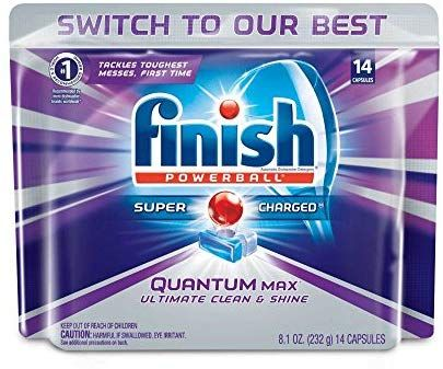 Amazon Com Finish Quantum Max Powerball 14ct Dishwasher Detergent Tablets Ultimate Clean Dishwasher Detergent Dishwasher Detergent Tablets Dishwasher Tabs
