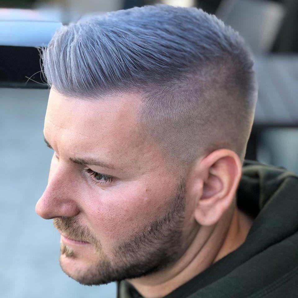 Purple Hair In 2020 Mens Barbershop Men Hair Color Haircuts For Men