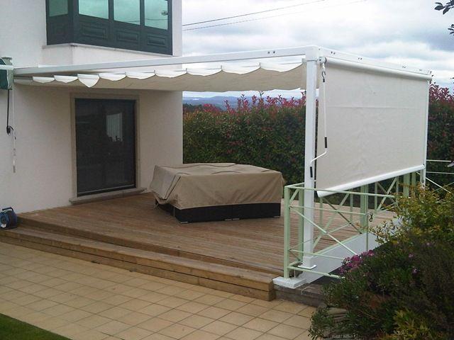 Toldos modelo elit horizontal para el falso techo y para for Toldos para patios